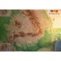 Harta fizico-administrativa a Romaniei