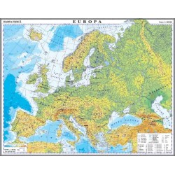 Harta fizica si a resurselor de subsol a Europei