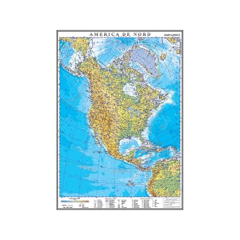 Harta Fizica A Americii De Nord