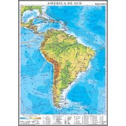 Harta fizica a Americii de Sud