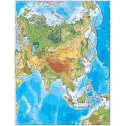 Harta fizica a Asiei