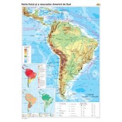 America de Sud: Harta fizicogeografica si a principalelor resurs