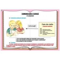 Comunicarea verbala - comunicarea scrisa - programul