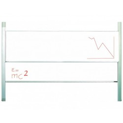 Tabla scolara alba culisanta pe verticala