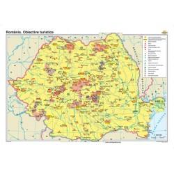 Harta Romaniei. Obiective turistice