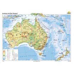Harta Australia si Noua Zelanda