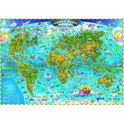 Harta Lumii pentru copii cu sistem electric de rulare