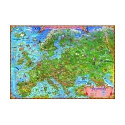 Harta Europei pentru copii cu sistem electric de rulare