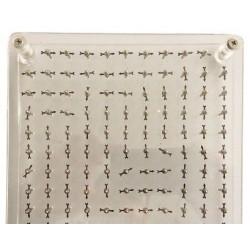 Tabla pentru vizualizarea liniilor de camp magnetic