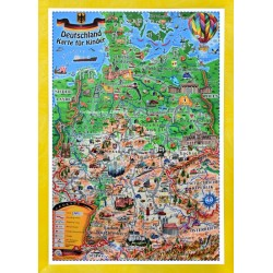Deutschland Karte fur Kinder - 3D Reliefkarte