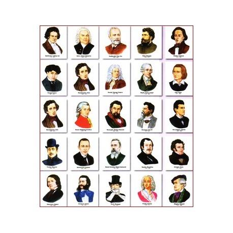 Set portrete - 25 compozitori