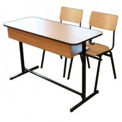 Banca scolara dubla cu 2 scaune - FIRST