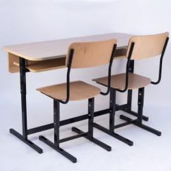 Banca scolara dubla reglabila cu 2 scaune - FIRST