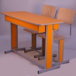 Banca scolara dubla fixa cu 2 scaune - TITAN-L