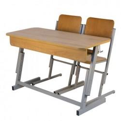 Banca scolara dubla reglabila cu 2 scaune reglabile PREMIUM-G